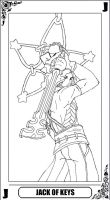 KH Tarot: Jack of Keys (lineart) by way2thedawn