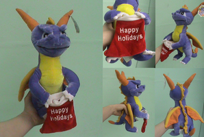 Spyro-Rare Happy Holidays Plushie by KrazyKari