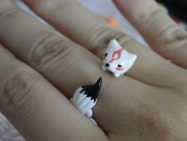 Amaterasu Okami Polymer Clay Ring by sanxcharms