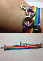 Gay pride ribbon bracelet by AestheticSaturn