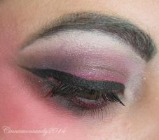 Vampire Makeup - Eye Closeup by Cinnamoncandy