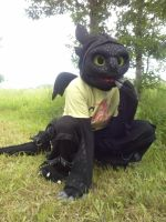 Toothless Suit - My Cutest Pose!! by TheBandicoot