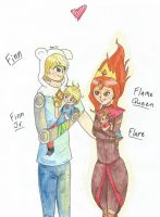 AT: Finn, Flame Queen, and Kids by MadD-NerdGirl