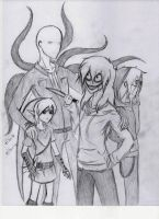 CreepyPasta Jeff, Ben, Slenderman, Jack by Haven-Sollux