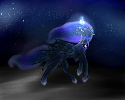 Dark Side of the Moon (+ Speedpaint) by dolphinMLP
