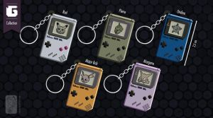 Game Boy Keychain for TGG by UmbreoNoctie