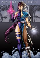 Psylocke vs Chun-li Cover by snoozzzzzz