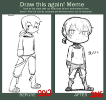 Before and After Meme - Konoha by AngieYellowCat