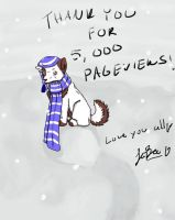 Thank you for 5,000 pv's by JiiBee