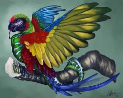 Rainbow Boa Macaw by CharReed