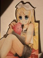 Kagamine Rin Watercolour by Yukieru