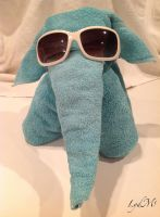 Towel Elephant the Cool by LydMc
