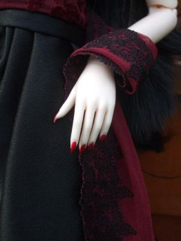 red nails by child-of-aros