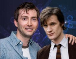 david tennant and matt smith by jakey01