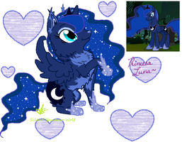 Princess Luna Wolf by Silent-Shadow-Wolf