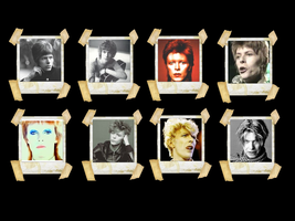 Faces David Bowie Wallpaper by Radioheadedlove