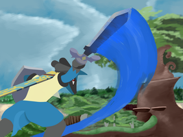 Pokemon crossovers - Lucario in Skyward Sword by Lucky-Jacky