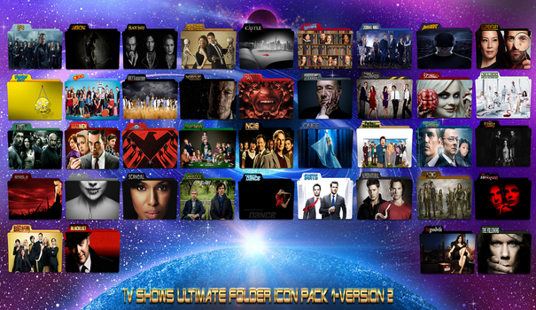 TV Shows Ultimate Folder Icon Pack 1-Version 2 by gterritory
