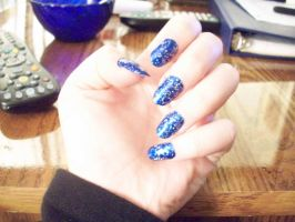 Stary Sky Nails by SupernovaSword