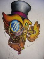 gentleman owl by malignant-child
