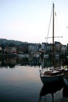 Honfleur Harbor by annamarcella24