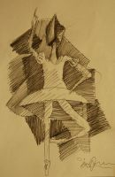 Ballerina with paper bag by Blueprint92