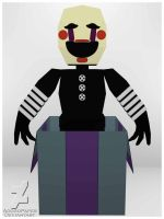 five nights at freddy's 2 the Puppet papercraft by Adogopaper