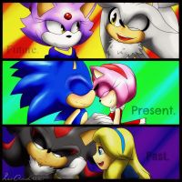 Shadaria past - Sonamy present - Silvaze future. by LoborianProductions
