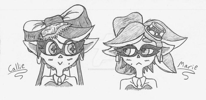Callie and Marie Doodle (Fan-Art) by TheLiquidBoy