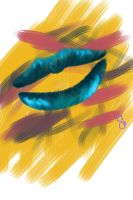 Blueish Lips by Yinxabell