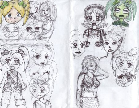 Sketches of Ariadne by keylord