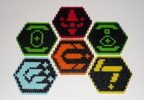 Phantasy Star Online Coasters by monochrome-GS