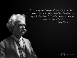 Mark Twain Wallpaper by jkltechinc