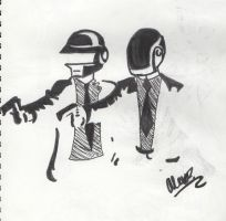 Daft Punk With GUNS by CritterInvasion