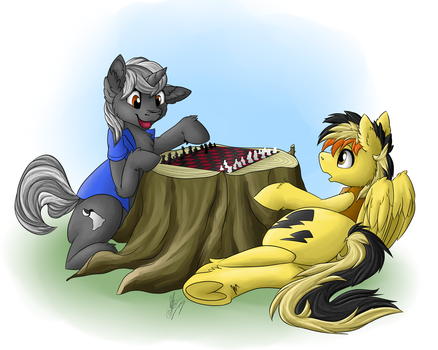 Commission - A Friendly Game of Chess by VictoryDanceOfficial