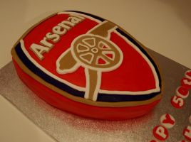 Arsenal Logo Cake by sparks1992
