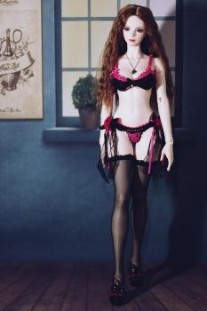 Walking with Hot Pink Lingeries 3 by CelineHot