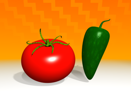 Tomato and Jalapeno by artislight