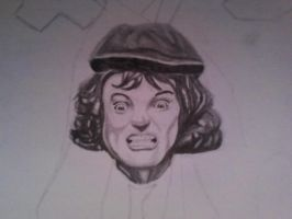 Angus Young face by GustavoHRG