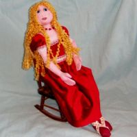 Art Doll in Red Velvet dress by CreativeCritters