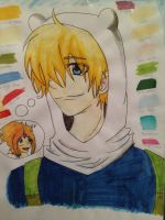 Finn The Human - Thinking about Flame Princess by emoPANDAattack