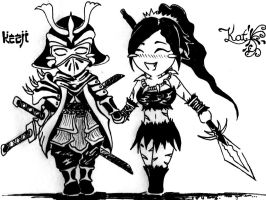 Shen and Nidalee by Kezji