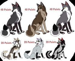 New Bunch of Adoptables 1 LEFT! by Kir-bi-eness