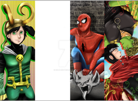Marvel Bookmarks WIP 2 by cold-ice-trio