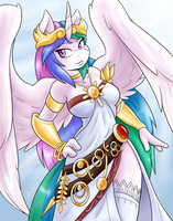 Celestia Dressed as Palutena by Ambris