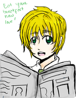 APH: and there's iggy, reading newspaper by kyou-higurashi
