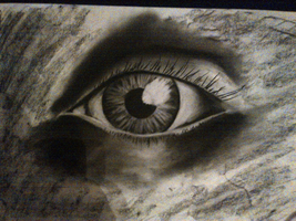 eye drawing - charcoal by DavidMunroeArt
