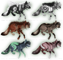 35 Point Wolf/Canine Adopts CLOSED by Pineaapple