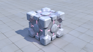 Companion Cube, LIghts On by Krist-Silvershade
