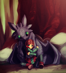 Forest snuggles by Kiwibon